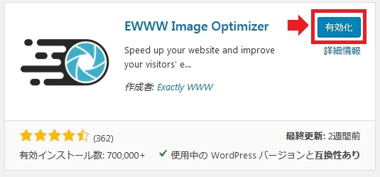 EWWW Image Optimizerインストール後